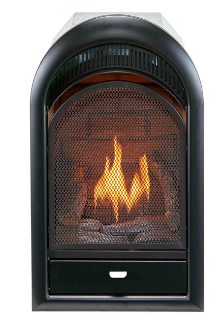Bluegrass Living Vent Free Propane Gas Fireplace Insert - 10,000 BTU, T-Stat Control, Zero Clearance Design.