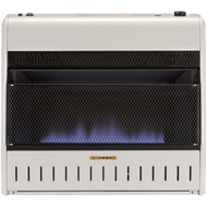 ProCom Reconditioned Tri-Fuel Vent-Free Blue Flame Heater - 30,000 BTU, Model# MTF30TBU