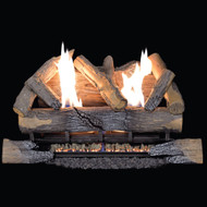Duluth Forge Ventless Natural Gas Log Set - 24 in. Split Bark, 33,000 BTU, Manual Control - Model# DLS-N24M-3