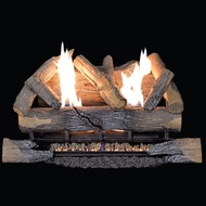 Duluth Forge Ventless Natural Gas Log Set - 24 in. Split Bark, 33,000 BTU, Manual Control.