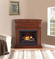 Bluegrass Living Vent Free Natural Gas Fireplace System - 26,000 BTU, Remote Control, Chestnut Oak Finish - Model# B300RTN-1-CO