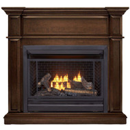 Bluegrass Living Vent Free Natural Gas Fireplace System - 26,000 BTU, Remote Control, Heritage Cherry Finish - Model# B300RTN-2-MHC