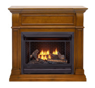 Bluegrass Living Vent Free Natural Gas Fireplace System - 26,000 BTU, Remote Control, Apple Spice Finish - Model# B300RTN-4-AS