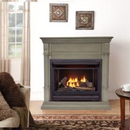 Bluegrass Living B300RTN-2GR, Vent Free Fireplace System, Fireplace: B300RTN and Mantel: CM300-2-GR, Gray