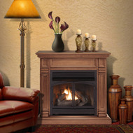 ProCom Dual Fuel Vent Free Gas Fireplace System - 32,000 BTU, T-Stat Control, Toasted Almond Finish - Model# FBNSD400T-2TA