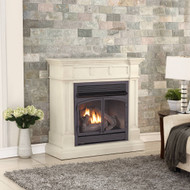 ProCom Dual Fuel Vent Free Gas Fireplace System - 32,000 BTU, T-Stat Control, Antique White Finish - Model# FBNSD400T-2AW