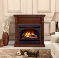 ProCom Dual Fuel Vent Free Gas Fireplace System - 26,000 BTU, T-Stat Control, Auburn Cherry Finish - Model# FBNSD28T-2AC