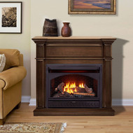 ProCom Dual Fuel Vent Free Gas Fireplace System - 26,000 BTU, T-Stat Control, Gingerbread Finish - Model# FBNSD28T-3G
