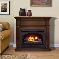 ProCom Dual Fuel Vent Free Gas Fireplace System - 26,000 BTU, T-Stat Control, Gingerbread Finish - Model# FBNSD28T-3G