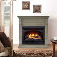 ProCom Dual Fuel Vent Free Gas Fireplace System - 26,000 BTU, T-Stat Control, Slate Gray Finish - Model# FBNSD28T-2GR