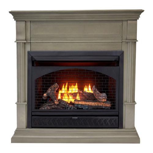 ProCom Dual Fuel Vent Free Gas Fireplace System - 26,000 BTU, T-Stat Control.