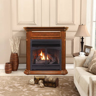 ProCom Dual Fuel Vent Free Gas Fireplace System - 32,000 BTU, Remote Control, Apple Spice Finish - Model# FBNSD400RT-4AS
