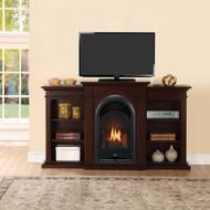 ProCom Dual Fuel Ventless Gas Fireplace System - 15,000 BTU, T-Stat Control.