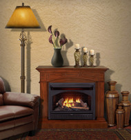 ProCom Dual Fuel Vent Free Gas Fireplace System - 26,000 BTU, T-Stat Control, Heritage Cherry Finish - Model# FBNSD28T-MHC