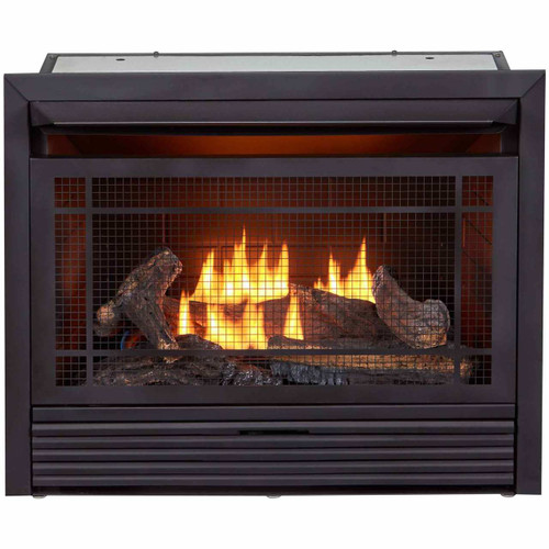 Duluth Forge Reconditioned Unit Vent-Free Gas Fireplace Insert - 26,000 BTU, Thermostat Control.