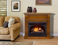 ProCom Dual Fuel Ventless Gas Fireplace - 26,000 BTU, T-Stat Control, Apple Spice Finish - Model# FBNSD28T-J-AS