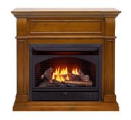 ProCom Dual Fuel Ventless Gas Fireplace - 26,000 BTU, T-Stat Control, Apple Spice Finish - Model# FBNSD28T-J-AS