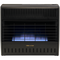 ProCom Dual Fuel Ventless Garage Heater - 30,000 BTU, Manual Control.