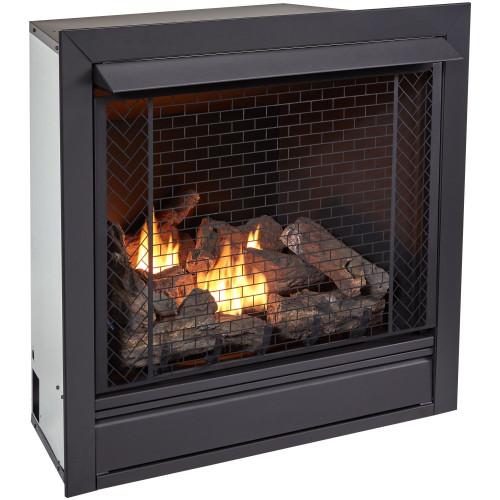Bluegrass Living Vent Free Natural Gas Fireplace Insert - 32,000 BTU, Remote Control, Zero Clearance Design.