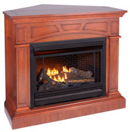 Bluegrass Living B300RTN-2-MHC, Vent Free Fireplace System, Fireplace: B300RTN and Mantel: FBD28-M-HC, Heritage Cherry