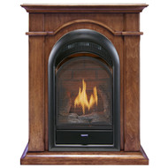 Bluegrass Living Vent Free Natural Gas Fireplace System - 10,000 BTU, T-Stat Control, Apple Spice Finish.