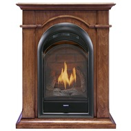 Bluegrass Living Vent Free Propane Gas Fireplace System - 10,000 BTU, T-Stat Control, Apple Spice Finish.