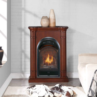 Bluegrass Living Vent Free Propane Gas Fireplace System - 10,000 BTU, T-Stat Control, Walnut Finish - Model# B100TP-3-W