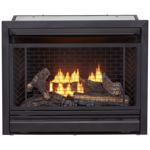 Bluegrass Living Vent Free Propane Gas Fireplace Insert - 26,000 BTU, Remote Control, Zero Clearance Design.
