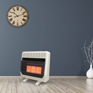 HearthSense Reconditioned Dual Fuel Ventless Infrared Plaque Heater with Base and Blower - 30,000 BTU, T-Stat Control - Model# IR26T-BB-R