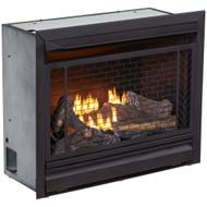 Bluegrass Living Vent Free Natural Gas Fireplace Insert - 26,000 BTU, Remote Control, Zero Clearance Design - Model# B300RTN