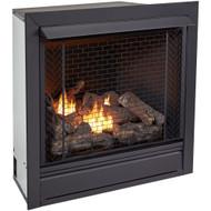 Bluegrass Living Vent Free Propane Gas Fireplace Insert - 32,000 BTU, Remote Control, Zero Clearance Design.