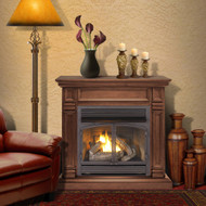 ProCom Dual Fuel Vent Free Gas Fireplace System - 32,000 BTU, T-Stat Control, Chocolate Finish - Model# FBNSD400T-A-CH
