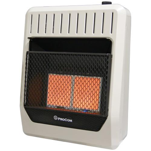 Propane Gas Vent Free Infrared Gas Space Heater - 18,000 BTU, T-Stat Control
