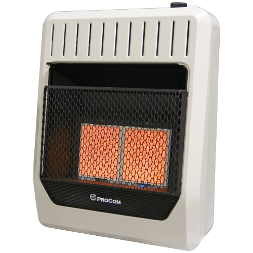 Natural Gas Vent Free Infrared Gas Space Heater - 20,000 BTU, T-Stat Control