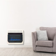 HearthSense Recon Dual Fuel Ventless Blue Flame Heater With Base and Blower - 30,000 BTU, T-Stat Control - Model# BF30T-BB-R
