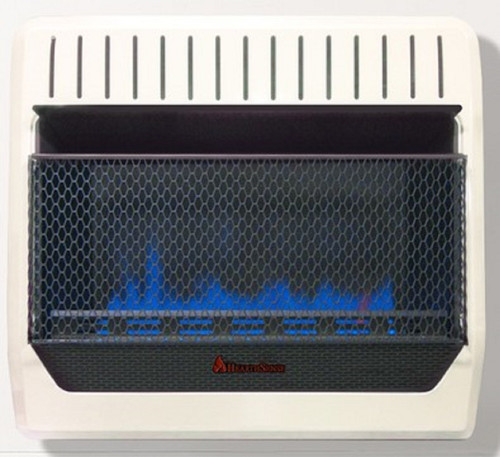 HearthSense Recon Dual Fuel Ventless Blue Flame Heater With Base and Blower - 30,000 BTU, T-Stat Control