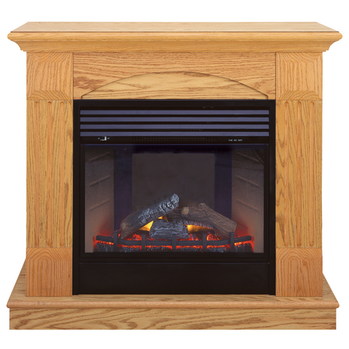 Deluxe Electric Fireplace With Remote Control - Oak Finish, Model# SFE24RE6-O