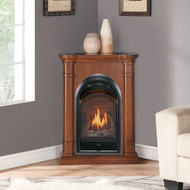 Bluegrass Living Vent Free Natural Gas Fireplace System - 10,000 BTU, T-Stat Control, Apple Spice Finish