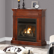 ProCom Dual Fuel Vent Free Gas Fireplace System - 32,000 BTU, Remote Control, Autumn Spice Finish - Model# FBNSD400RT-1AT