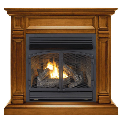 Mantel features light distressing throughout and burnishing on edges