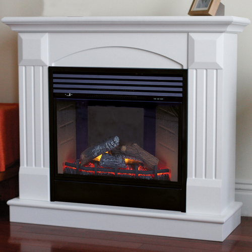 Deluxe Electric Fireplace With Remote Control - White Finish, Model# SFE24RE6-W