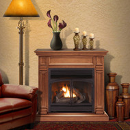 ProCom Dual Fuel Ventless Gas Fireplace System - 32,000 BTU, T-Stat Control, Apple Spice Finish - Model# FBNSD400T-A-AS
