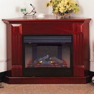 Deluxe Electric Corner Fireplace With Remote Control - Cherry Finish, Model# SFE24REC6-C