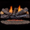 Duluth Forge Reconditioned Ventless Dual Fuel Log Set - 30 in. Stacked Red Oak - 33,000 BTU - T-Stat Control (210076)