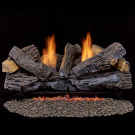 Duluth Forge Reconditioned Ventless Propane Gas Log Set - 30 in. Stacked Red Oak