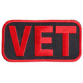 Forever And Always carries Biker Patches;Biker Patches/Veteran - Patriotic Patches VET in red