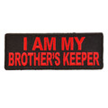 Forever And Always carries Biker Patches;Biker Patches/Christian Biker Patches;Biker Patches/Veteran - Patriotic Patches I AM MY BROTHERS KEEPER red