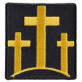 Forever And Always carries Biker Patches;Biker Patches/Christian Biker Patches Three Yellow Crosses on black