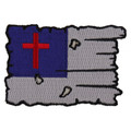 Forever And Always carries Biker Patches;Biker Patches/Christian Biker Patches Tattered Christian Flag