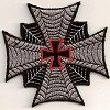 """Forever And Always carries Biker Patches Iron Cross With Red Center Cross Patch 3"""""""